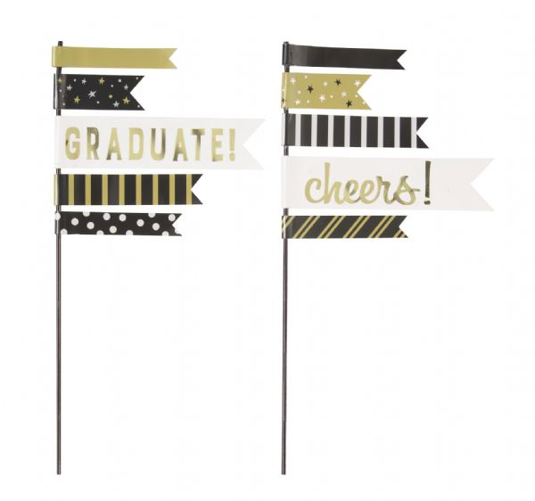 Graduation Pennant Cake Topper